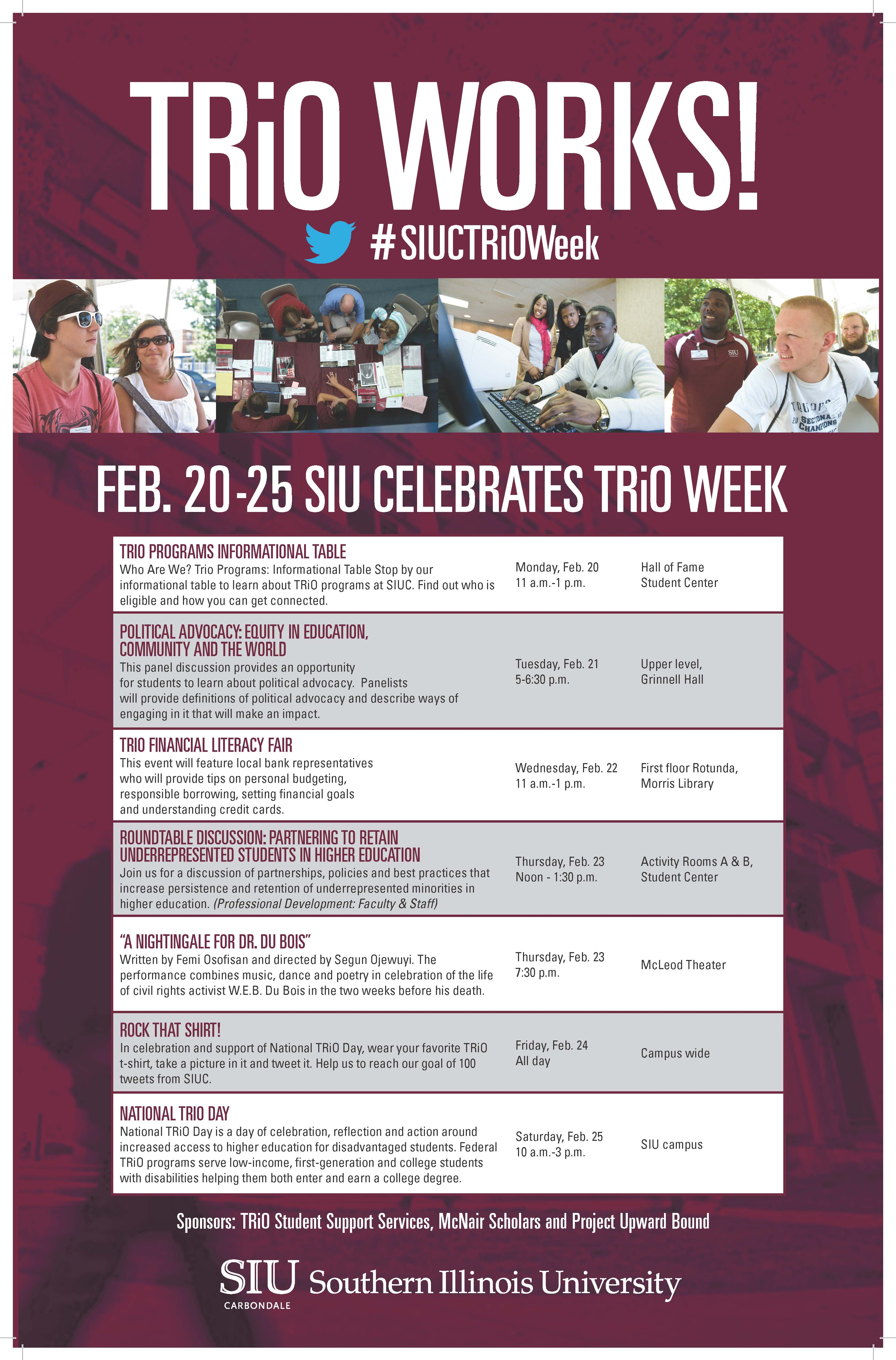 List of events for TRIO Week